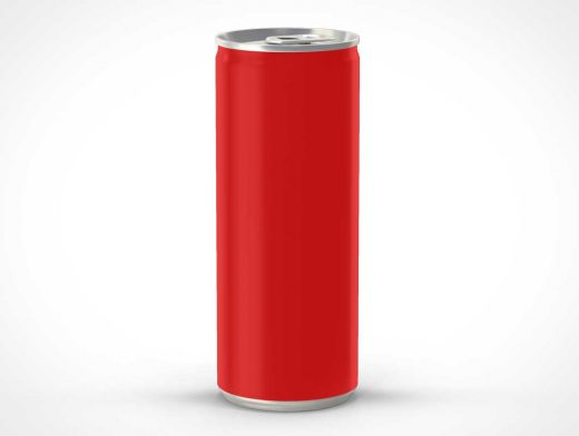 Elongated Soda Can PSD Mockup