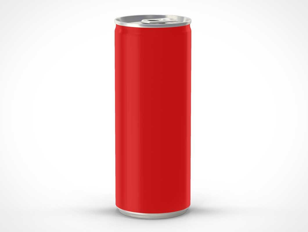 Elongated Soda Can PSD Mockup