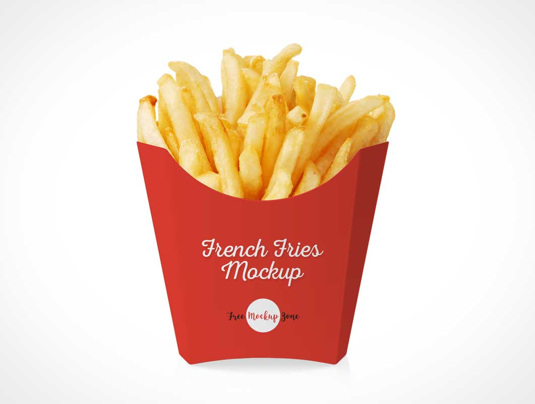 French Fries Fast Food Packaging PSD Mockup