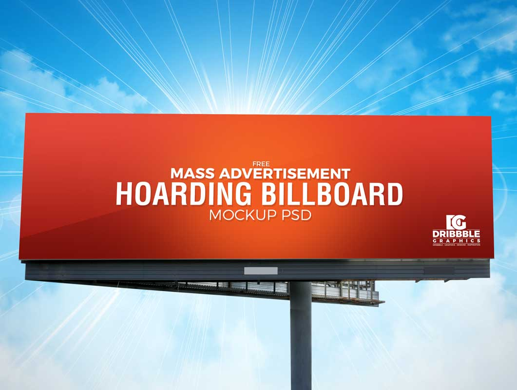 Landscape Billboard Advertising PSD Mockup