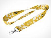 Lanyard & Tradeshow Badge Clip PSD Mockup