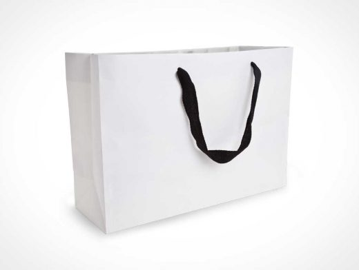 Large Rectangular Paper Shopping Bag Front PSD Mockup