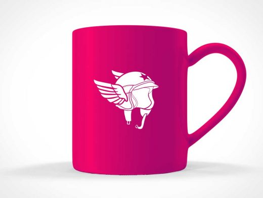 Mug Label Side View PSD Mockup