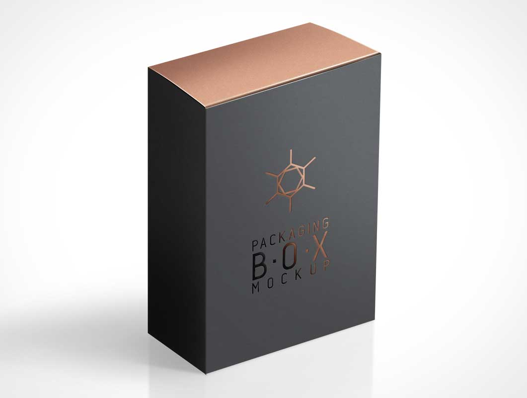 Product Box Packaging Isometric View Psd Mockup Psd Mockups