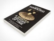 Rotated Paperback Book Face Up PSD Mockup