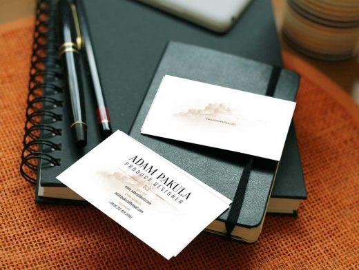 Stationery Notebook, Notepad & Business Cards PSD Mockup