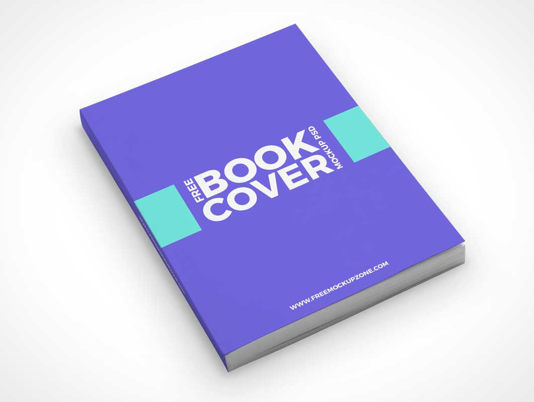 eBook Softcover Front Face Up PSD Mockup