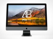 iMac Front Facing Display Screen PSD Mockup