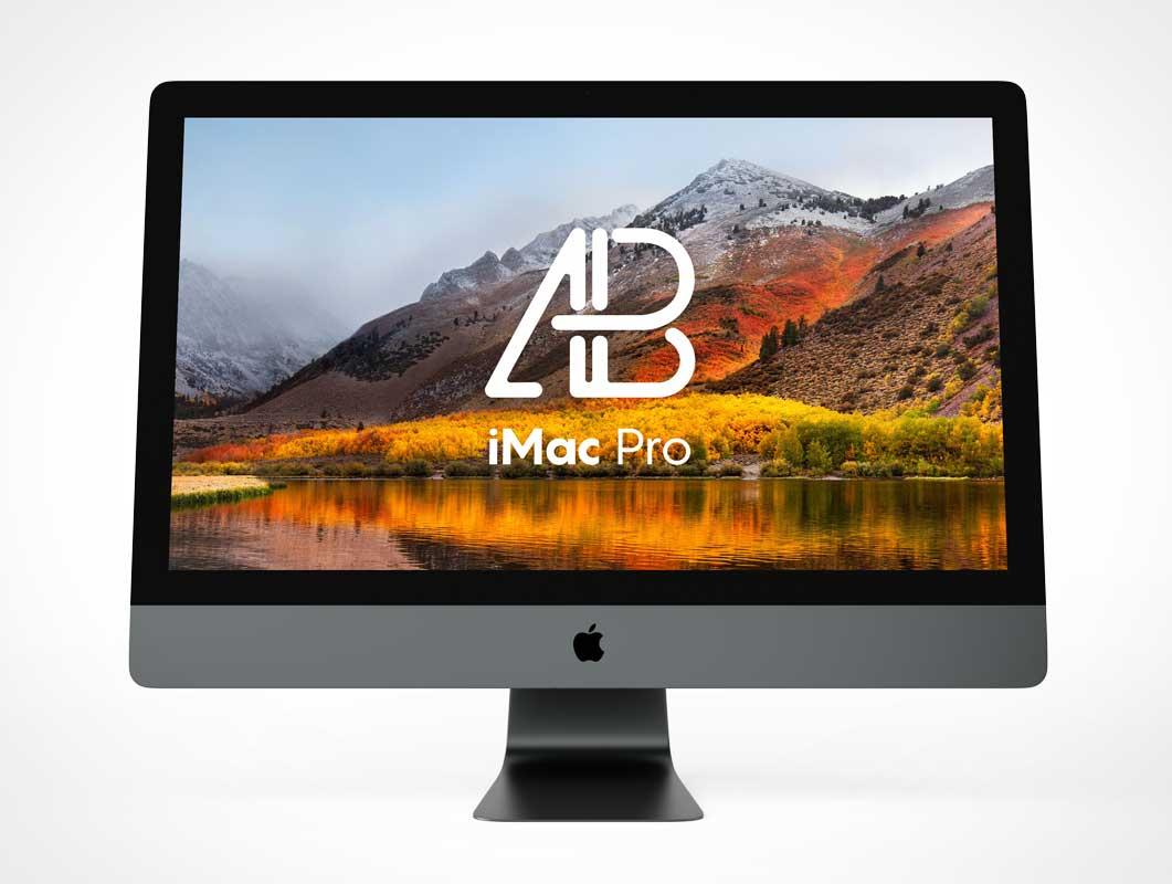 iMac Front Facing Display Screen PSD Mockup