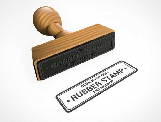 Approved Rubber Stamp PSD Mockup