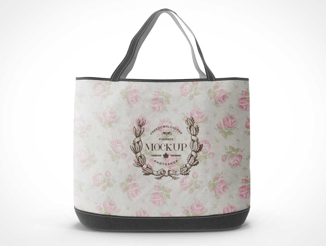 Canvas Carry Bag Side Cover & Stitched Nylon Bottom PSD Mockup