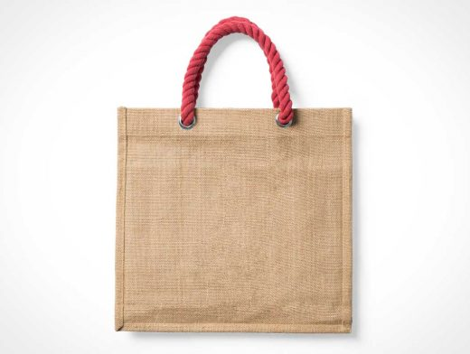 Canvas Tote Bag & Rope Handle PSD Mockup