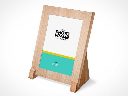 Event Photo Frame Display Stand PSD Mockup