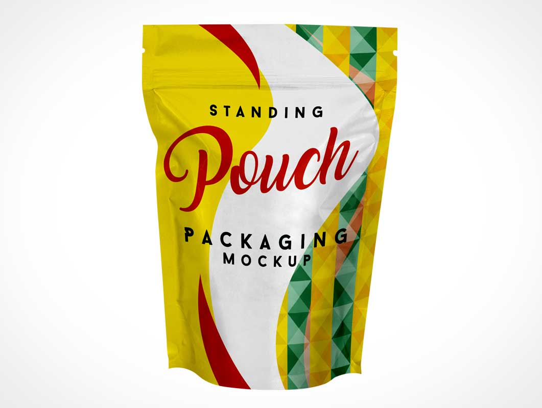 Foil Pouch Front Packaging Label PSD Mockup