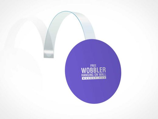 Hanging Wobbler Product Advertising PSD Mockup