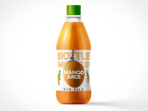 Juice Bottle Label Cover Branding PSD Mockup