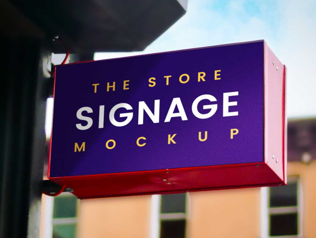 Outdoor Boutique Store Signage PSD Mockup