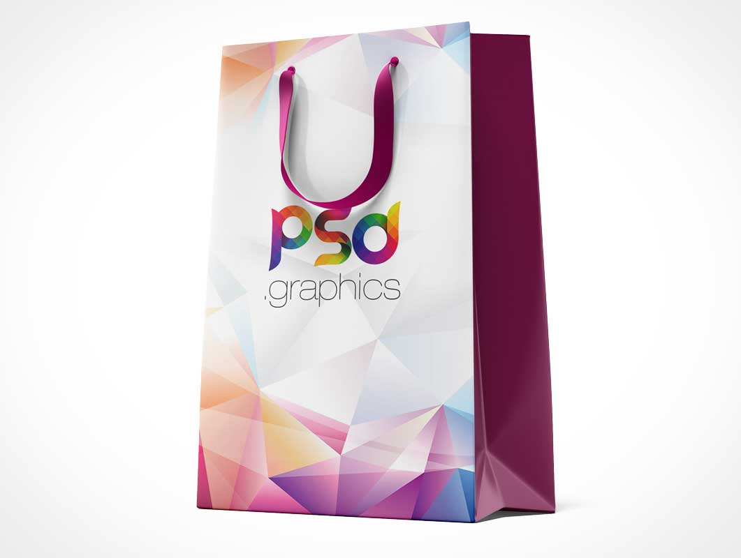 Paper Shopping Bags & Cloth String Handles PSD Mockups