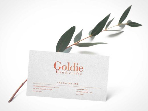 Realistic Business Card Front Side PSD Mockup