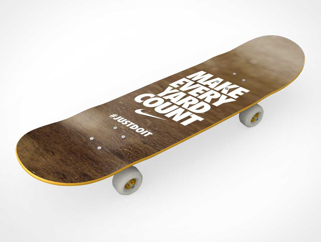 Skateboard Surface Product Branding PSD Mockup