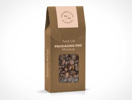 Standing Tuck Lid Box Packaging PSD Mockup