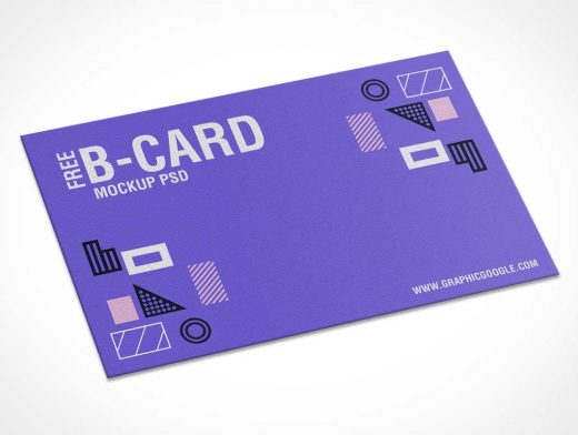 Textured Business Card Stationery PSD Mockup