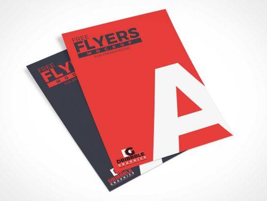 Unfolded Mail Flyers PSD Mockups