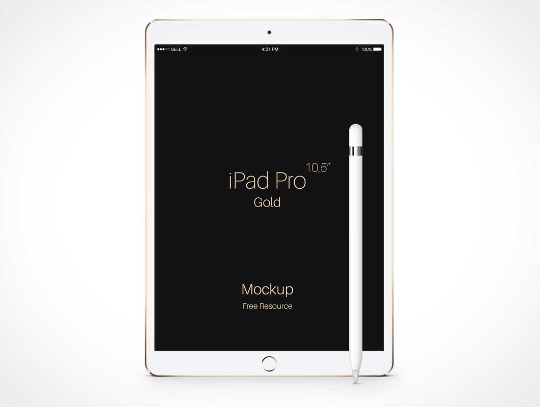 iPad Pro & Apple Pencil Portrait Mode Display PSD Mockup