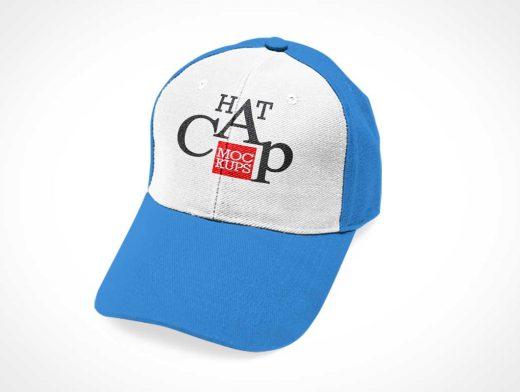 Baseball Cap Headwear With Snapback PSD Mockup