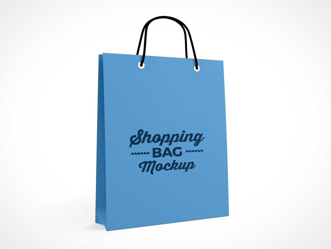 Boutique Shopping Bag Front & Side PSD Mockup