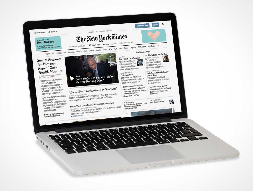 Customizable MacBook Pro & Full Screen Display PSD Mockup
