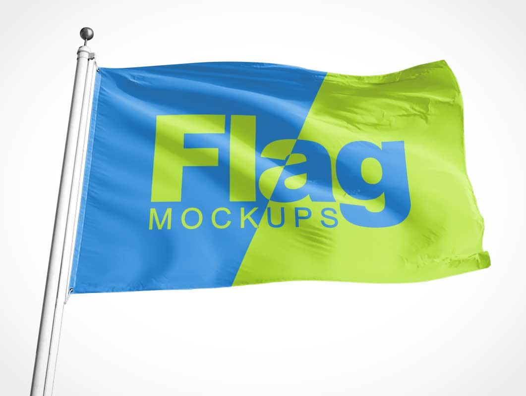 Flag, Banner & Billboard Advertising PSD Mockup