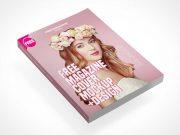 Floating Fashion Magazine Front Cover PSD Mockup
