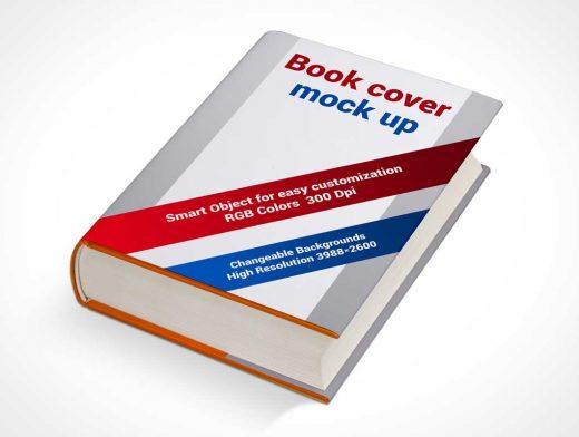 Hardbook Cover Quarter View PSD Mockup
