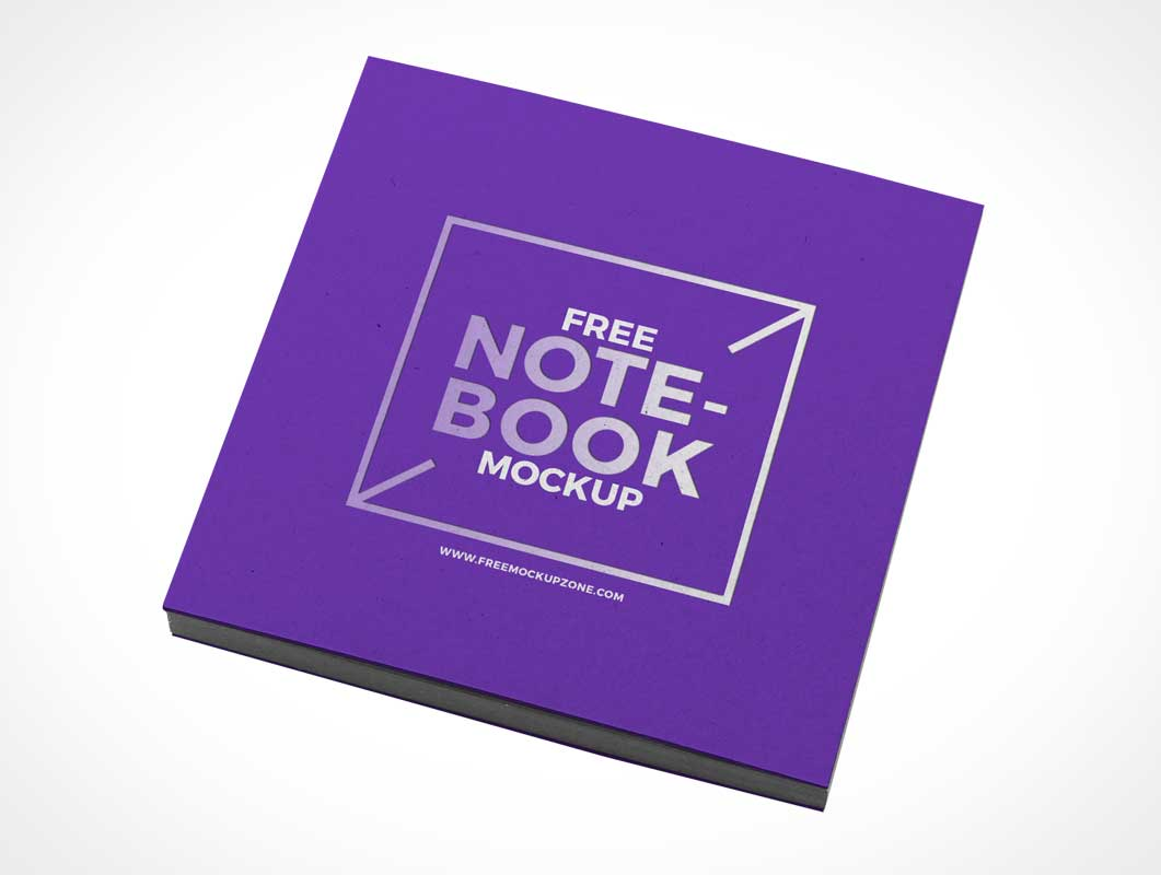 Hardcover Notebook Front Cover PSD Mockup