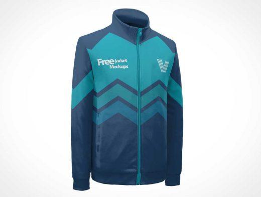 Long Sleeve Jacket Sweater Front & Back PSD Mockup