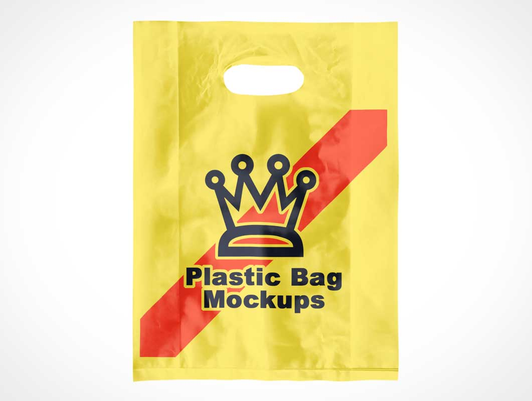 Plastic Poly Shopping Pouch Bag PSD Mockup