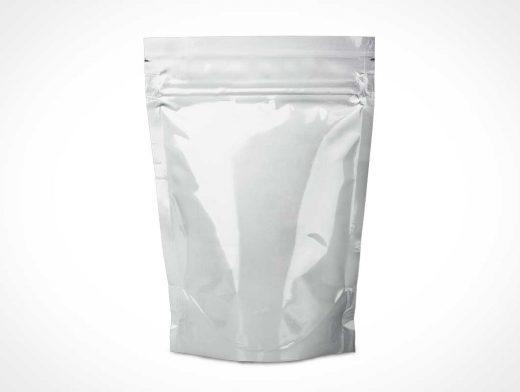 Snack Food Foil Pouch & Ziplock Packaging PSD Mockup