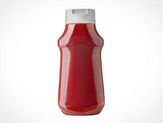 Squeeze Ketchup Plastic Bottle & Spout Cap PSD Mockup
