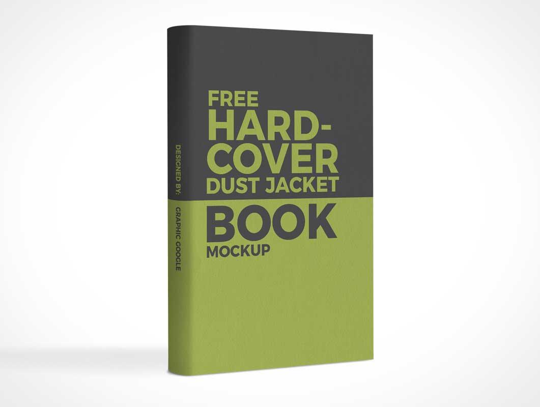Standing Hardcover Front & Spine PSD Mockup
