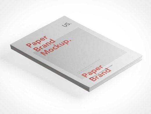 US Legal Paper Stack Bundle PSD Mockup