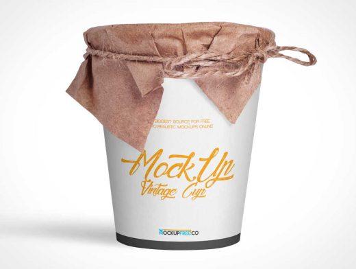 Vintage Ramen Noodle Cup PSD Mockup