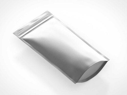 Ziplock Foil Packet Pouch PSD Mockup