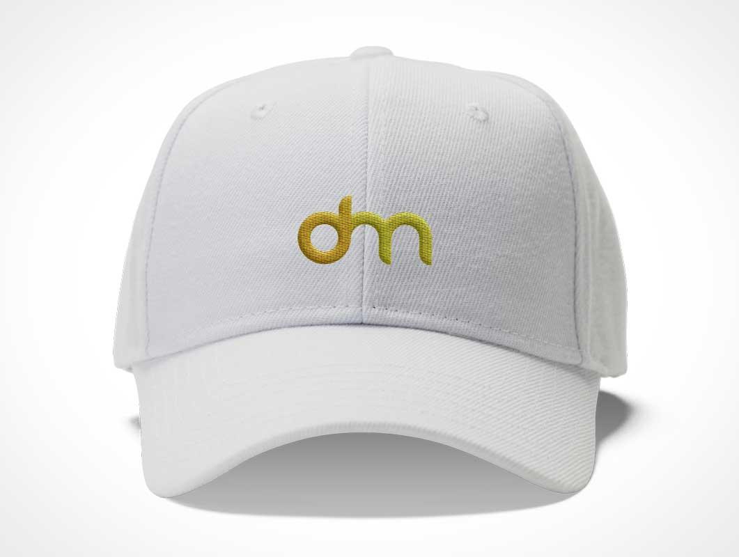 Baseball Cap Snapback Headwear Front PSD Mockup