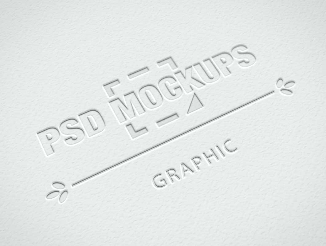 Embossed Logo On Corporate Letterhead Cover PSD Mockup