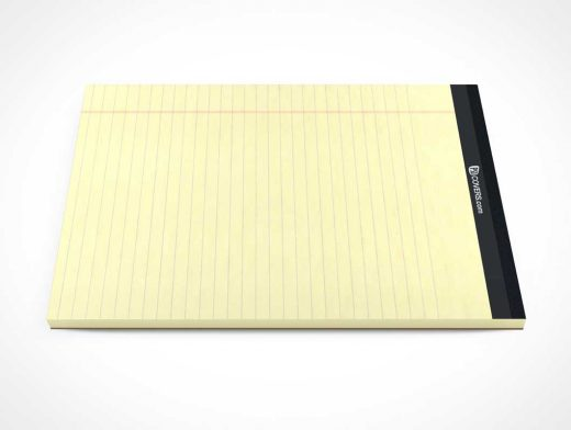 Lined Paper Stationery Pad Sideview & Cover PSD Mockup