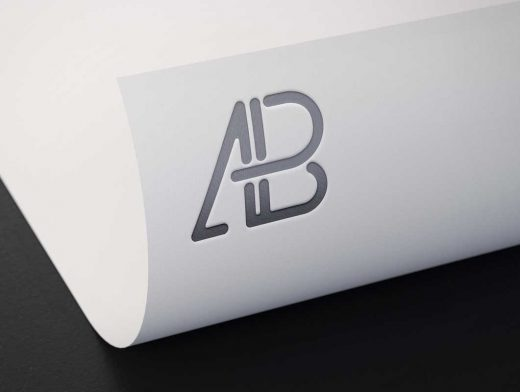 Metallic Sheet Foil PSD Mockup