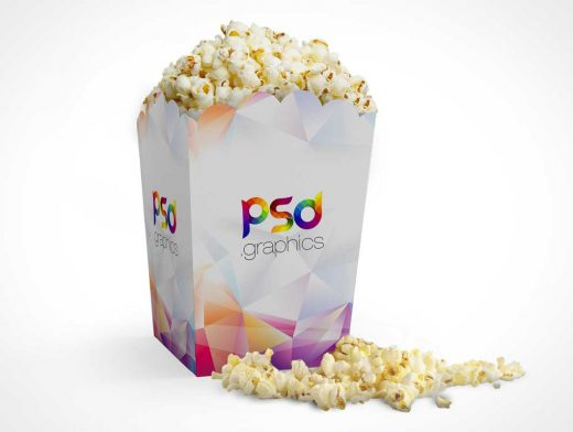 Movie Popcorn Box PSD Mockup