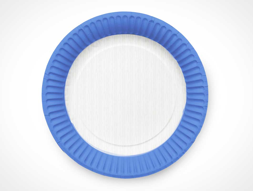Paper Dish Party Plate PSD Mockup