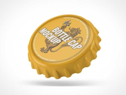 Ribbed Metal Bottle Twist Cap PSD Mockup